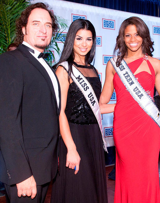 Kim Coates, Miss USA Rima Fakih and Miss Teen USA Kamie Crawford at the 2010 USO Gala in Washington DC.
