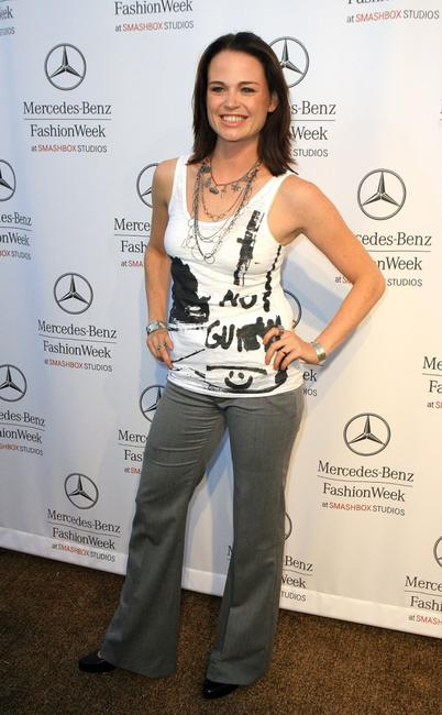 Sprague Grayden at the Mercedes Benz Fashion Week.