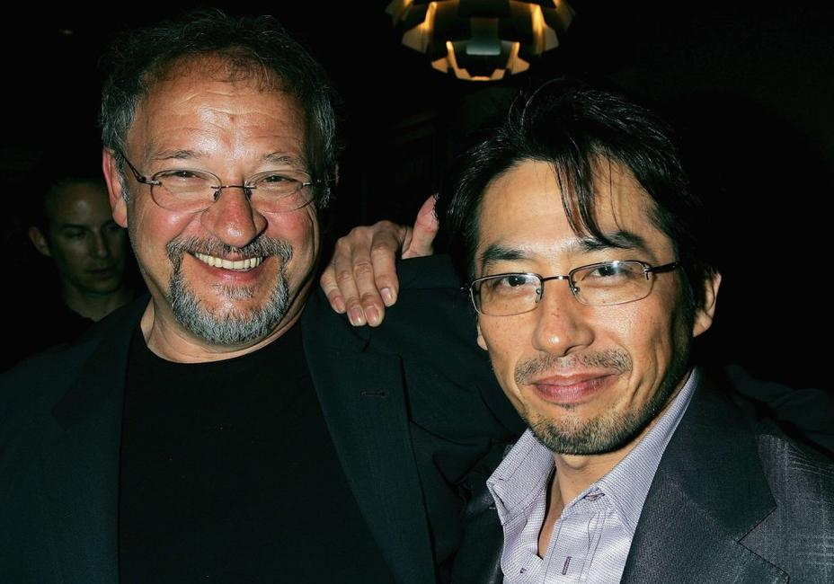 Ernst Etchie Stroh and Hiroyuki Sanada at the after party following the Los Angeles premiere of