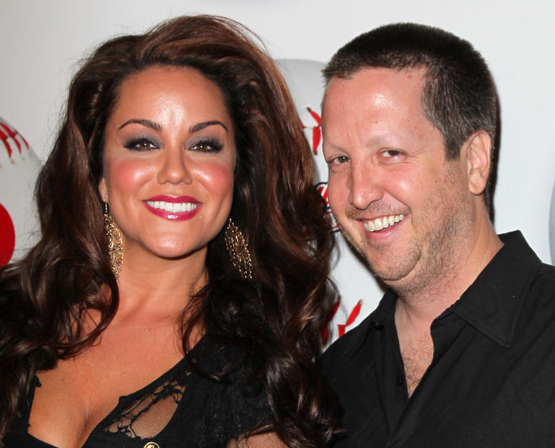 Katy Mixon and Steve Little at the California premiere of
