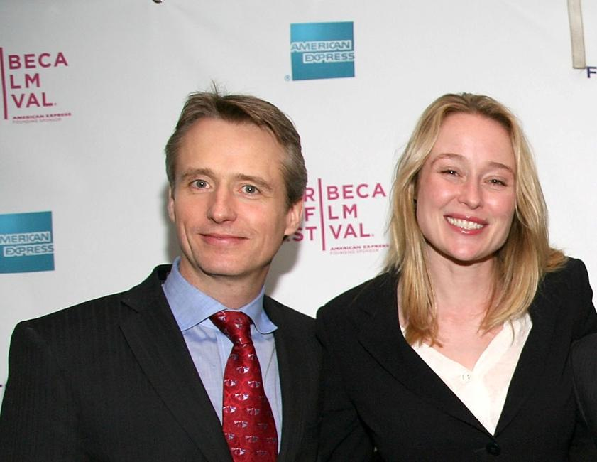 Linus Roache and Jennifer Ehle at the premiere of