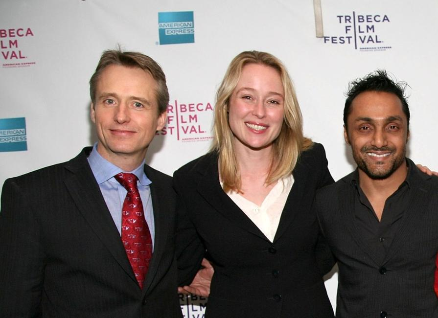 Linus Roache, Jennifer Ehle and Rahul Bose at the premiere of