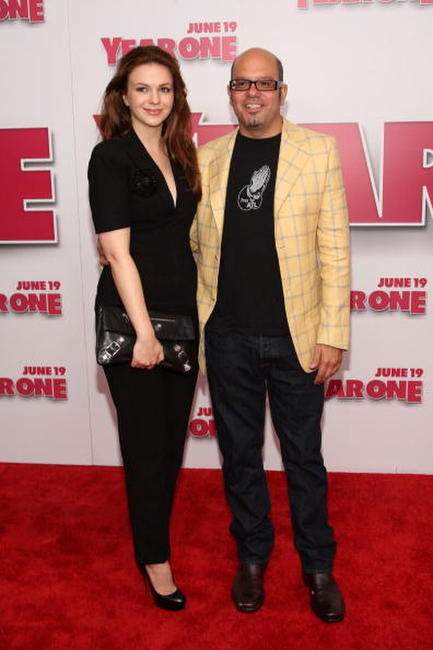 Amber Tamblyn and David Cross at the New York premiere of