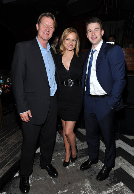 Brett Cullen, Vinessa Shaw and Chris Evans at the after party of