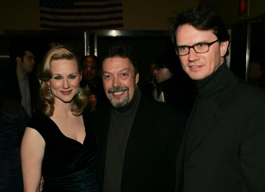 Tim Curry, Laura Linney and Fox Searchlight President Peter Rice at the Premiere of