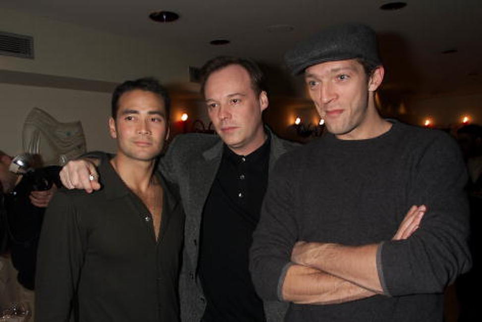 Mark Dacascos, Director Christophe Gans and Vincent Cassel at the private reception with the cast of
