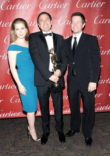 Amy Adams, David O. Russell and Mark Wahlberg at the 22nd Annual Palm Springs International Film Festival Awards Gala.