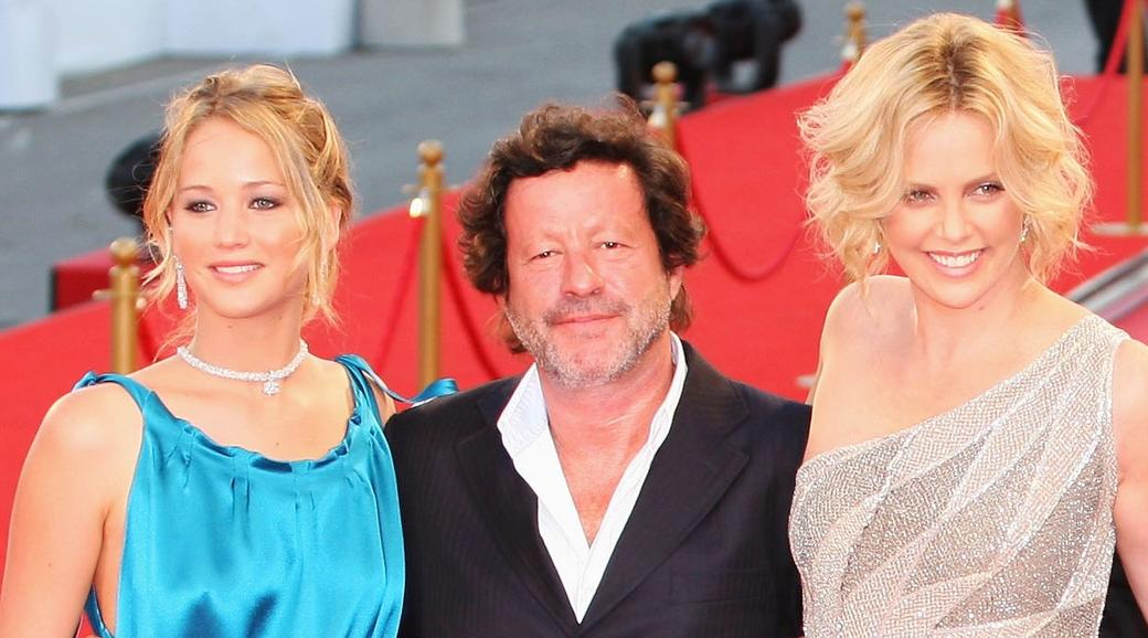 Jennifer Lawrence, Joaquim de Almeida and Charlize Theron at the premiere of