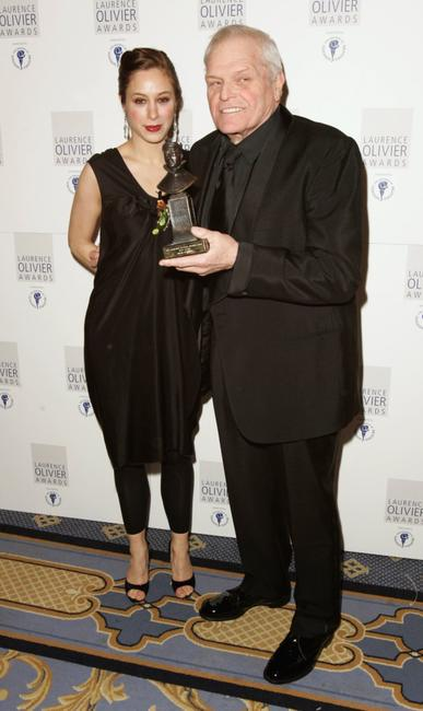 Brian Dennehy and Jodhi May at the Laurence Olivier Awards at the London Hilton.