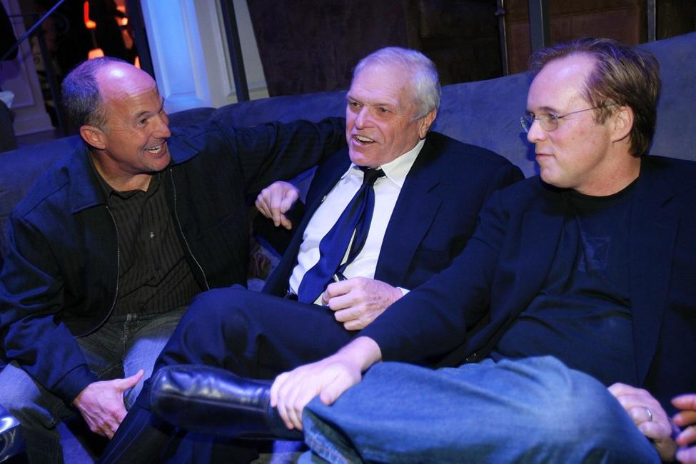 Brian Dennehy, Brad Lewis and Brad Bird at the celebration of the releases of