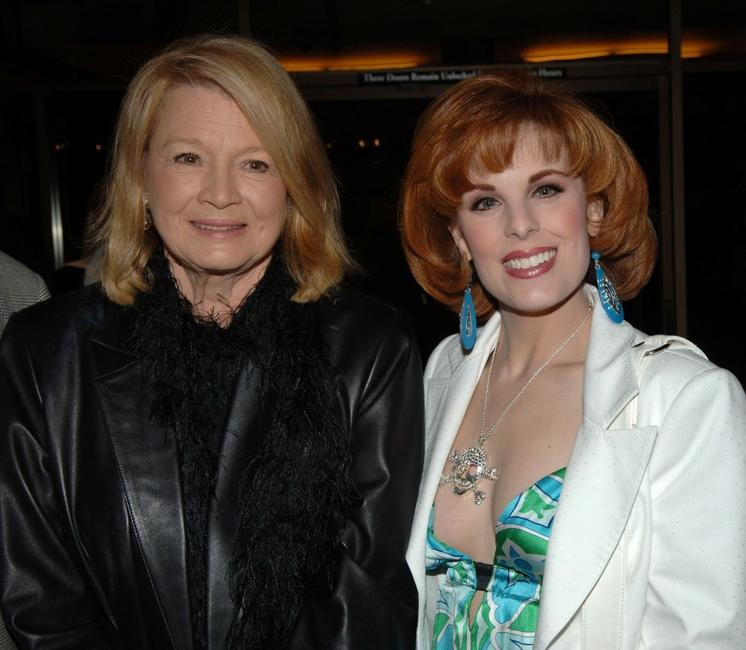 Angie Dickinson and Kat Kramer at the Academy's salute to John Wayne with a screening of