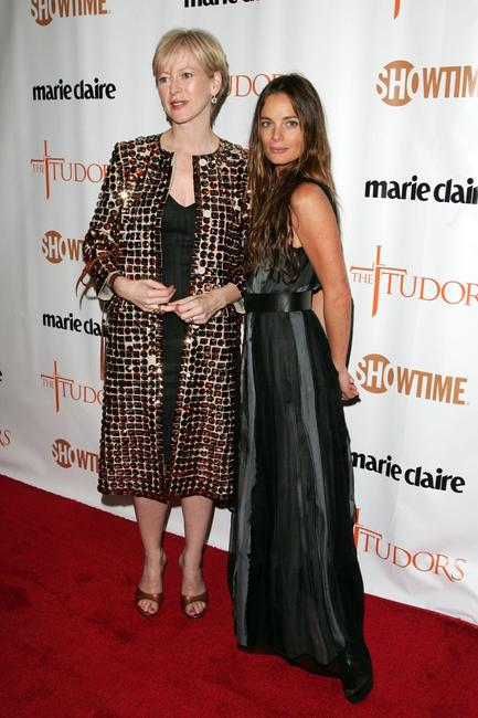 Gabrielle Anwar and Joanna Coles at the New York premiere of Showtime's