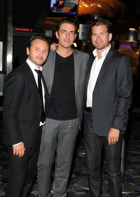 Lars Ranthe, director Martin Zandvliet and Nikolaj Lie Kaas at the premiere of