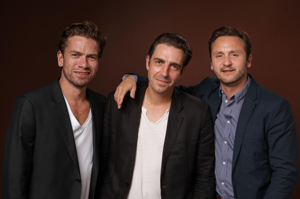 Nikolaj Lie Kaas, director Martin P. Zandvliet and Lars Ranthe at the portrait session of