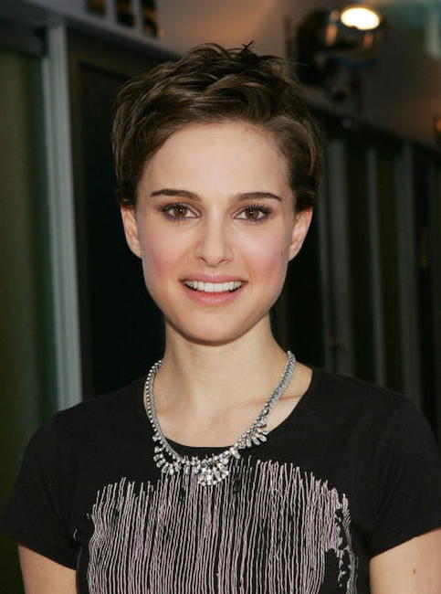 Natalie Portman backstage after a taping of MTV's Total Request Live at MTV Studios Time Square in N.Y.