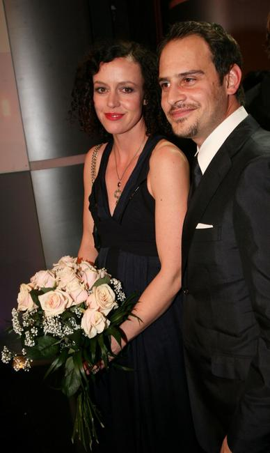 Maria Schrader and Moritz Bleibtreu at the awarding ceremony of Bavarian Film Awards.