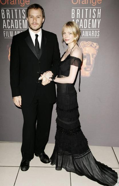 Heath Ledger and Michelle Williams at the Orange British Academy Film Awards (BAFTAs).