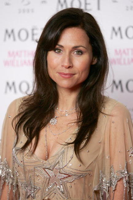 Minnie Driver at the London Fashion Week.