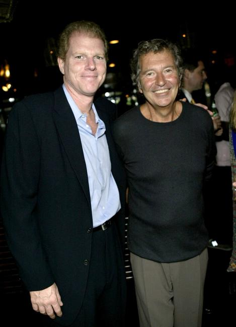 Noah Emmerich and Bob Shaye at the party for the 2004 Showmen of the Year award.