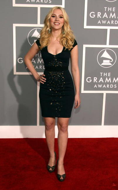 Scarlett Johansson at the 49th Annual Grammy Awards in L.A.