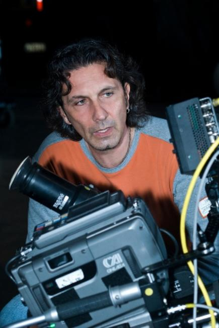 Director Patrick Tatopoulos on the set of