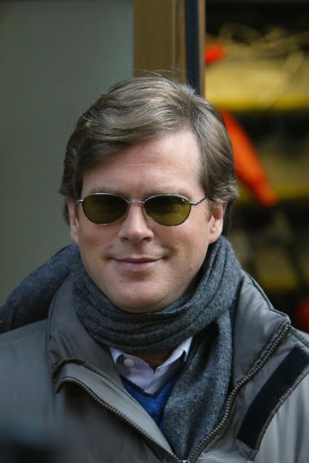 Cary Elwes walks outside the NBC studios.