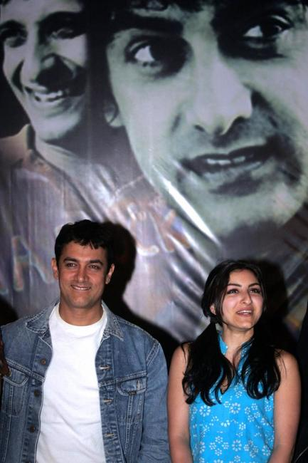 Aamir Khan and Soha Ali Khan at the promotional event of