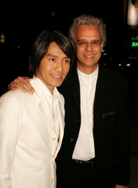 Stephen Chow and Bill Borden at the premiere of