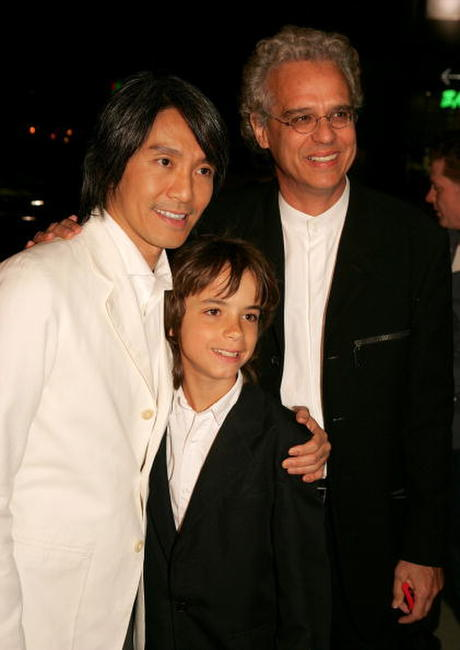 Stephen Chow, Bill Borden and Guest at the premiere of