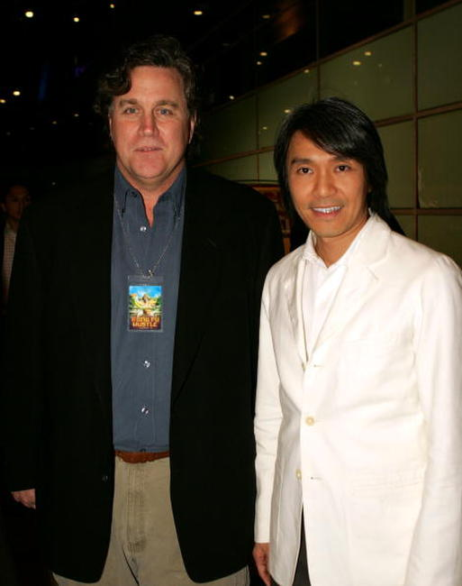 Tom Bernard and Stephen Chow at the premiere of