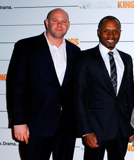 Domenick Lombardozzi and Malcom J Goodwin at the New York premiere of