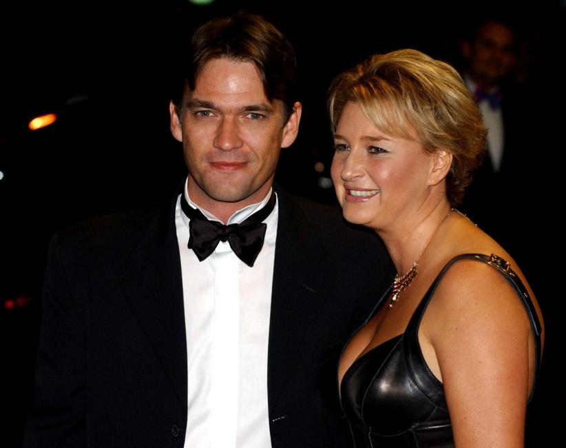 Dougray Scott and his wife at the premiere of