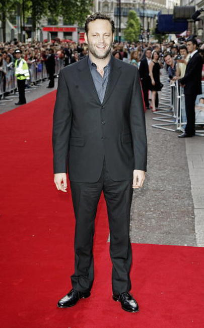 "Vince Vaughn at the UK premiere of ""The Break-up"" in London."