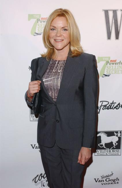 Stephanie Faracy at the W Magazine party honoring author John Livesay.