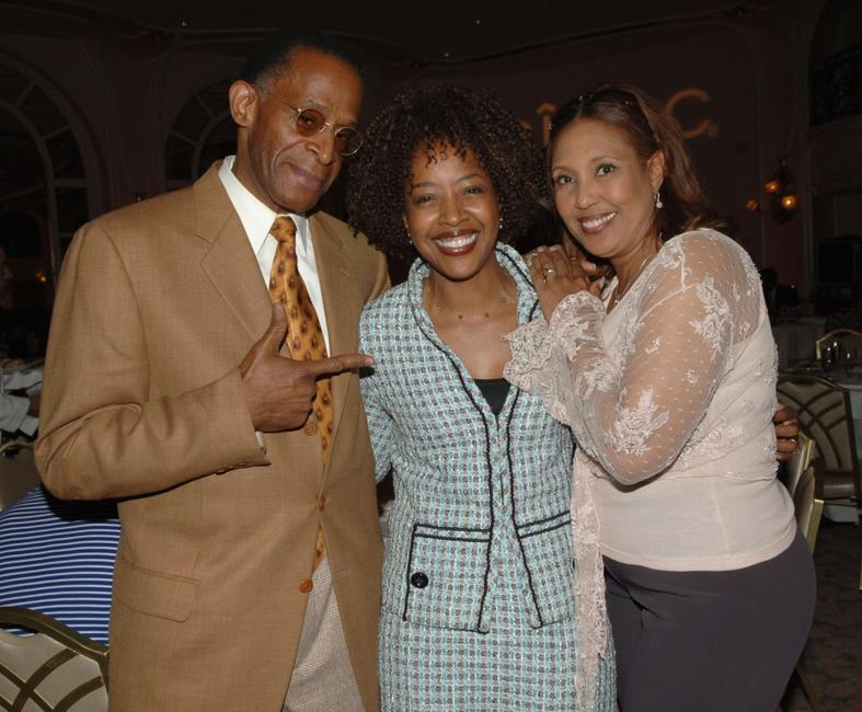 Antonio Fargas, Gina Williams and Telma Hopkins at the 38th NAACP Image Awards nominees luncheon.
