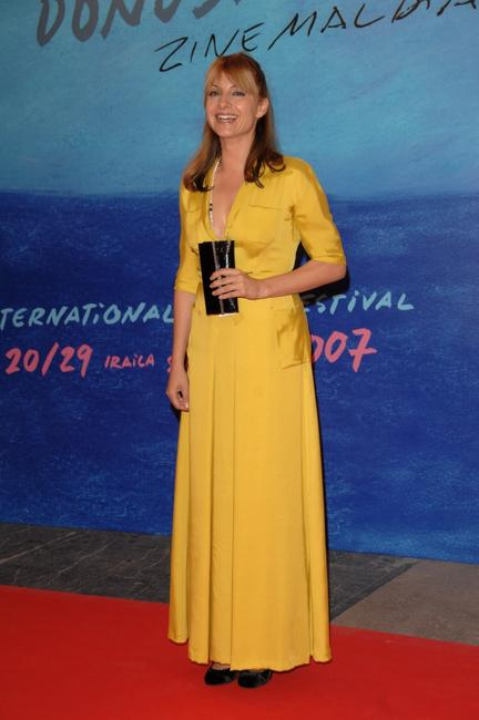 Najwa Nimri at the 55th San Sebastian Film Festival opening night.