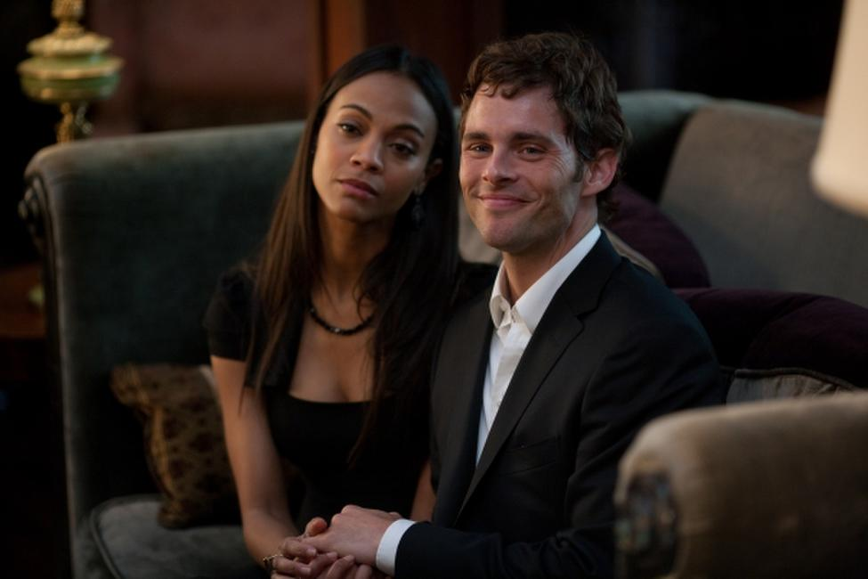 Zoe Saldana and James Marsden in