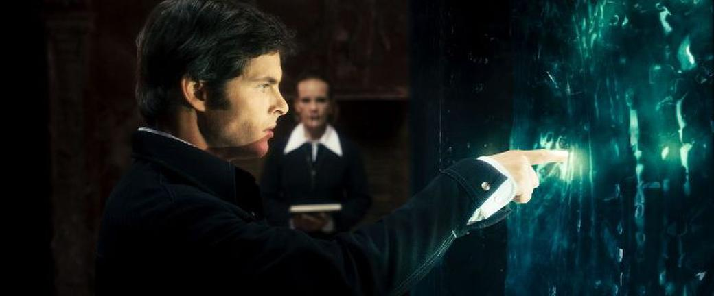 James Marsden as Arthur Lewis and Deborah Rush as Clymene Steward in