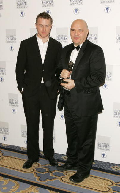 Samuel West and Anthony Minghella at the Laurence Olivier Awards.