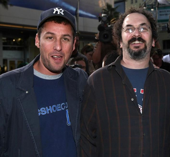 Adam Sandler and Robert Smigel at the premiere of