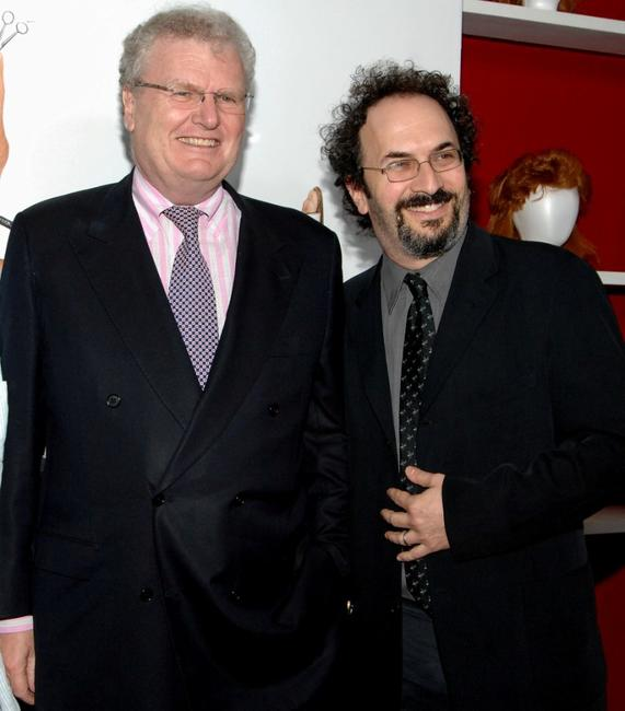 Howard Stringer and Robert Smigel at the screening of