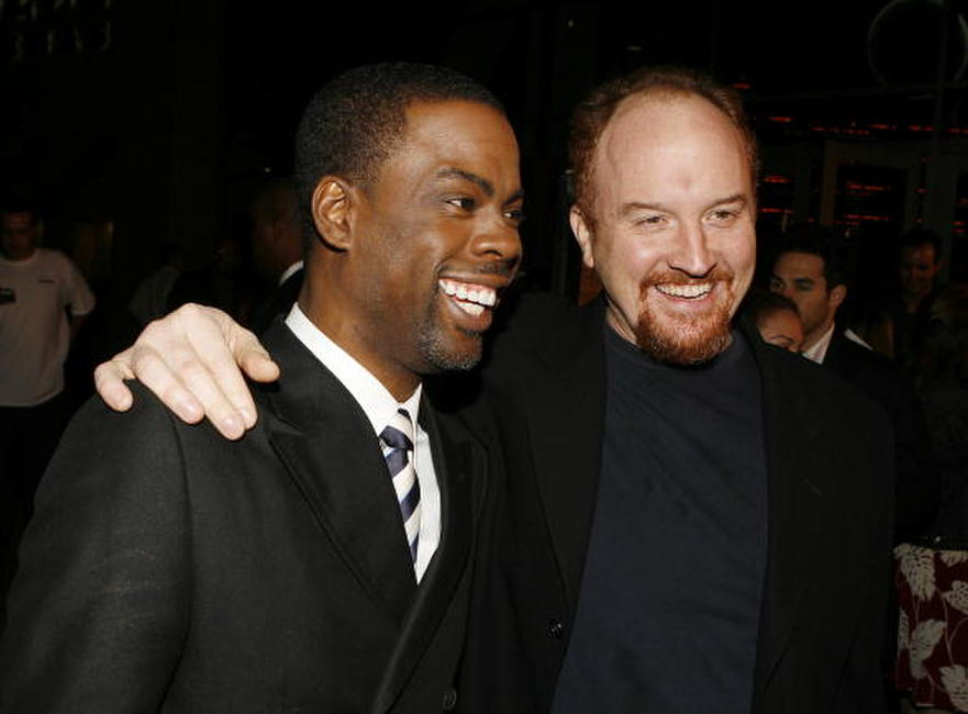 Chris Rock and Louis C.K. at the premiere of