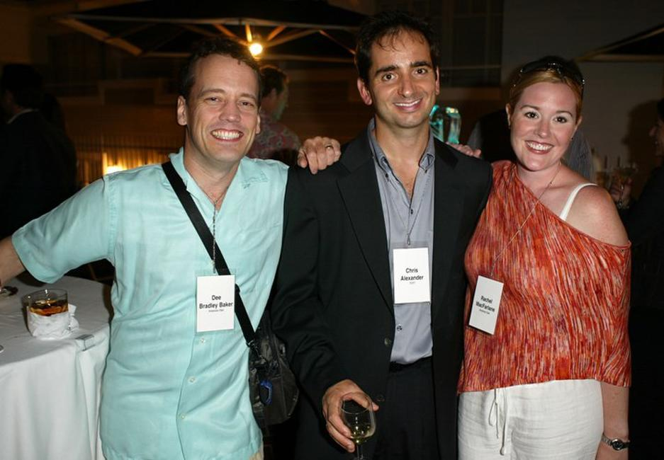 Dee Bradley Baker, Chris Alexander and Rachel MacFarlane at the Twentieth Century Fox Television's New Season party.