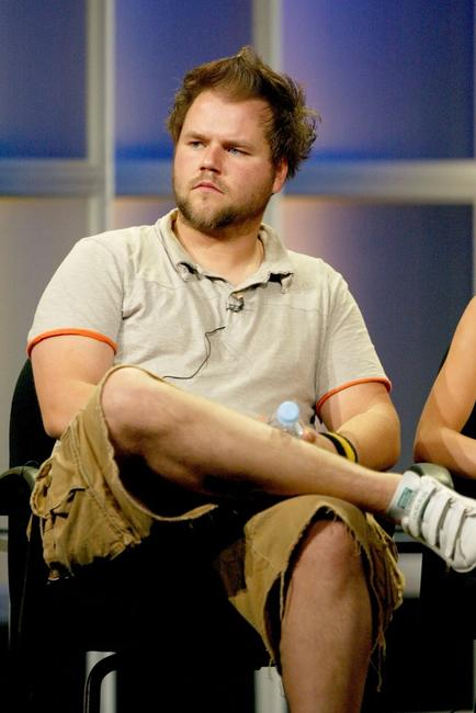 Tyler Labine at the panel discussion of
