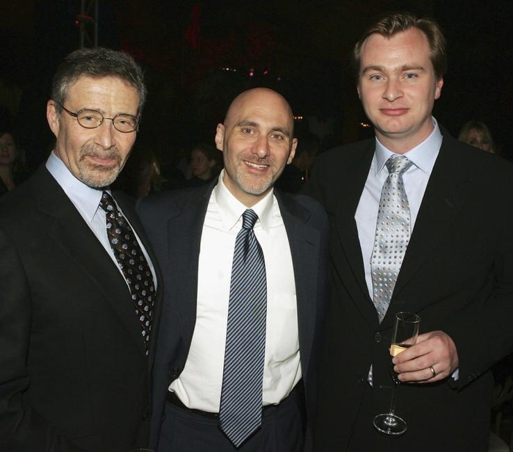 Barry Meyer, Jeff Robinov and Christopher Nolan at the after party of the premiere of