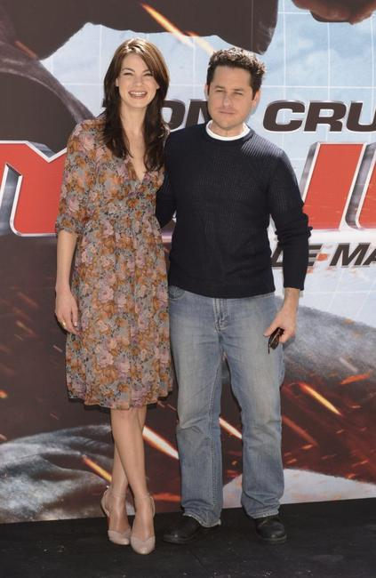 Michelle Monaghan and J.J. Abrams at the Spanish photocall of