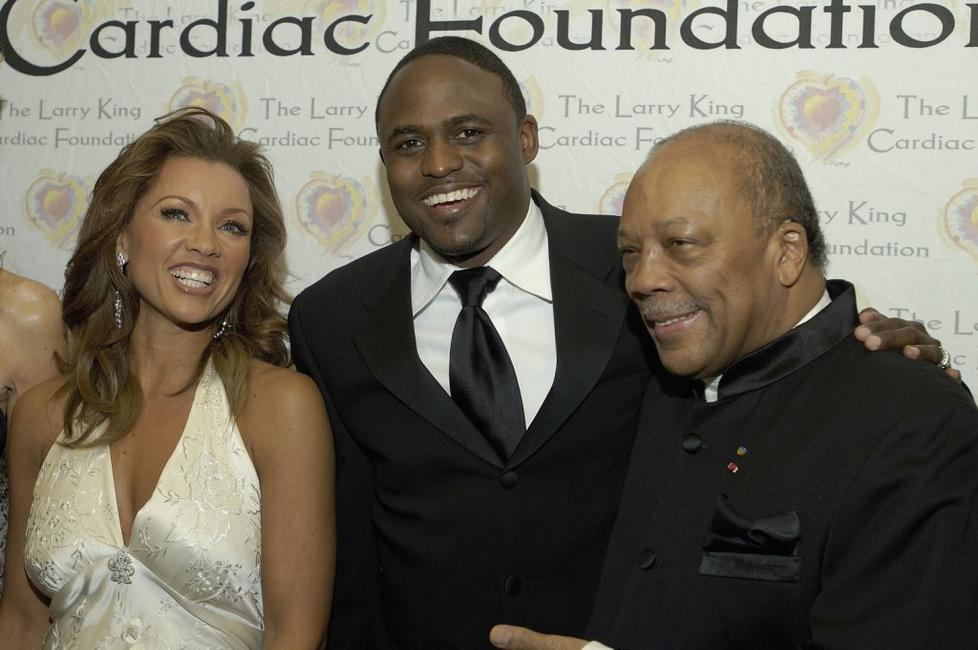 Vanessa Williams, Wayne Brady and Quincy Jones at the Larry King Cardiac Foundation's annual
