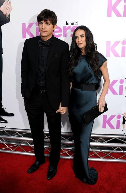 Ashton Kutcher and Demi Moore at the California premiere of