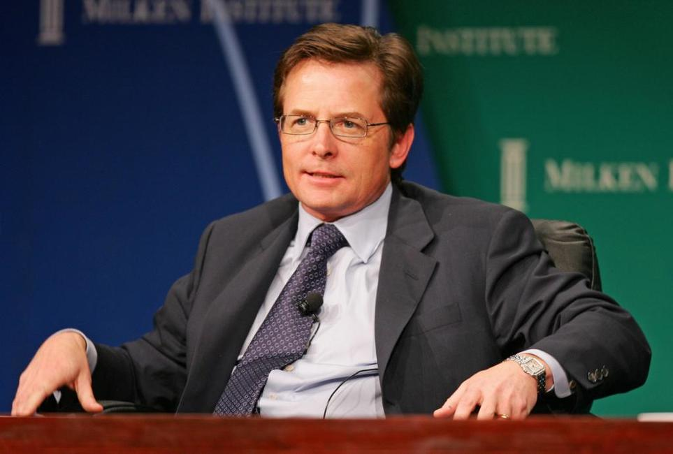 Michael J. Fox at the 10th Milken Institute Global Conference participates in a panel discussion called