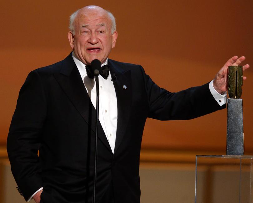 Ed Asner at the 8th Annual Screen Actors Guild Awards.